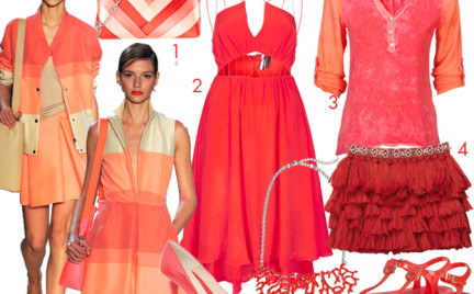 Moda z wybiegów: koral