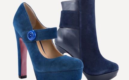Jesienny must have: kobaltowe buty