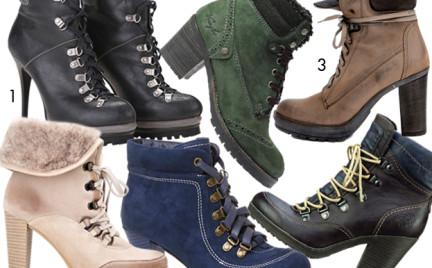 Kupujemy: sznurowane buty na obcasie