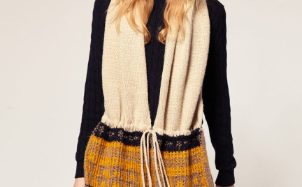 Jak Wam się podoba: ciepły wiązany szal Asos