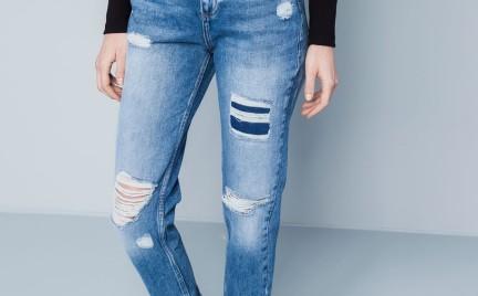 Kupujemy: dżinsy z łatami i przetarciami