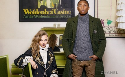 Cara Delevingne i Pharrell Williams w kampanii pre-fall Chanel