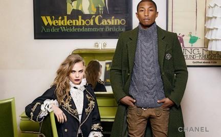 Cara Delevingne i Pharrell Williams w kampanii pre-fall Chanel