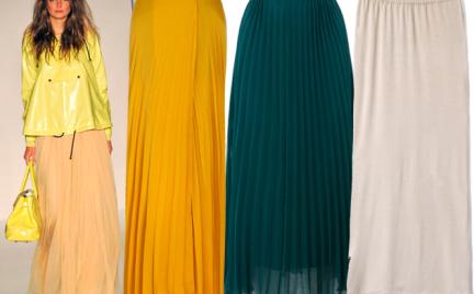Moda z wybiegów: maxi spódnica