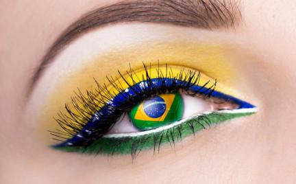 Makijaż kibicki na Mundial: Brasil Brasil