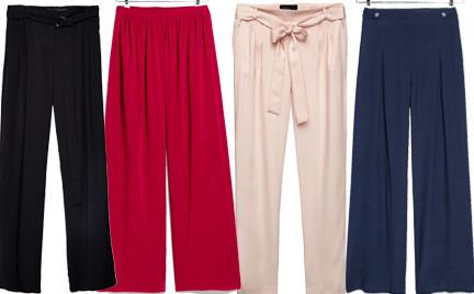 Kupujemy: spodnie z szerokimi nogawkami