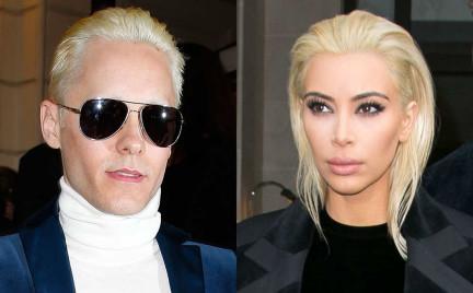 Kim Kardashian czy Jared Leto: komu lepiej w platynie