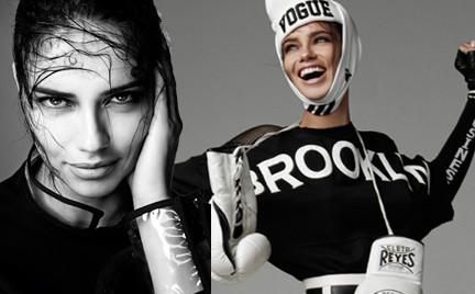 Piękna Adriana Lima na okładce włoskiego magazynu Vogue