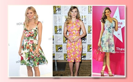 Która najlepiej: trzy celebrytki trzy sukienki w kwiaty