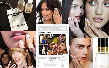 Biały manicure: kolejny trend na wiosnę i lato 2014