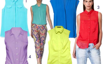 Moda z wybiegów: koszula bez rękawów