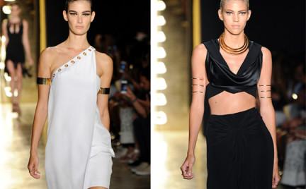 Moda z wybiegów: bransoletki na ramię w stylu Kleopatry
