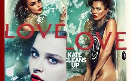 Trzy okładki Love Magazine: Kate Chloe czy Cara