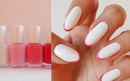 Manicure krok po kroku: kolorowe koncówki