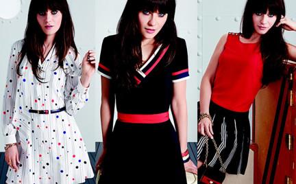 Zooey Deschanel projektuje sukienki w stylu lat 60. dla Tommy ego Hilfigera