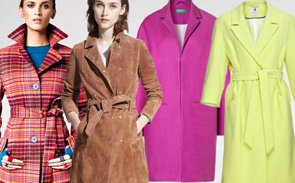 Przegląd kolorowych płaszczy na początek wiosny