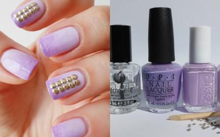 Manicure krok po kroku: gradient i ćwieki