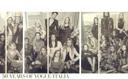 Święto supermodelek we włoskim Vogue u