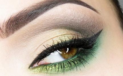 Makijaż: Zielona Poświata