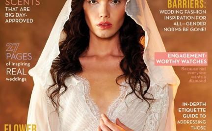 Androgyniczny model w damskich kreacjach ślubnych