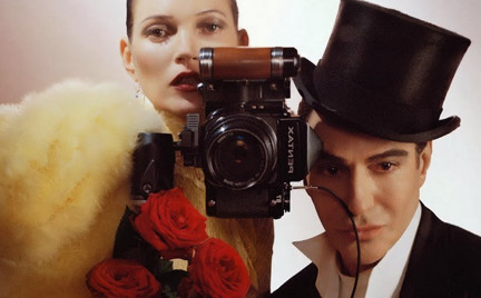 John Galliano i Kate Moss w grudniowym Vogue