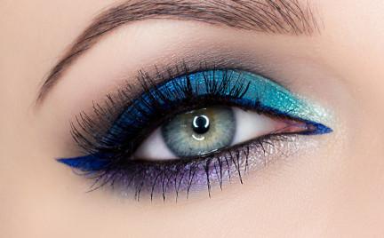 Makijaż: Kolorowy wieczorowy