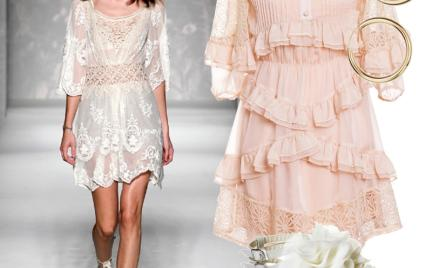 Moda z wybiegów: koronki