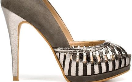 Dla królowej balu: Szaro-srebrne czółenka Zara
