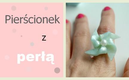 DIY pierścionek z perłą