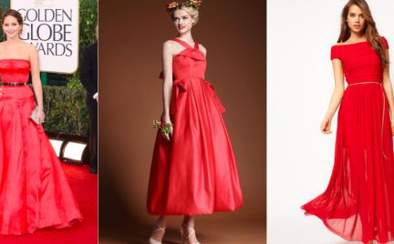 W stylu gwiazd: czerwone sukienki na studniówkę