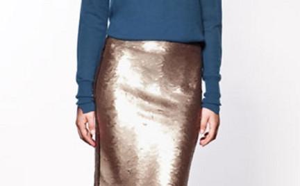 Na weekendową imprezę: błyszcząca spódnica Zara