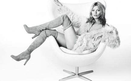 Kate Moss w kampanii Stuart Weitzman