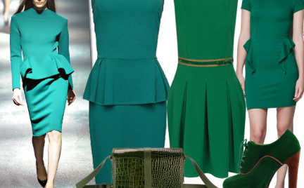 Moda z wybiegów: gramy w zielone