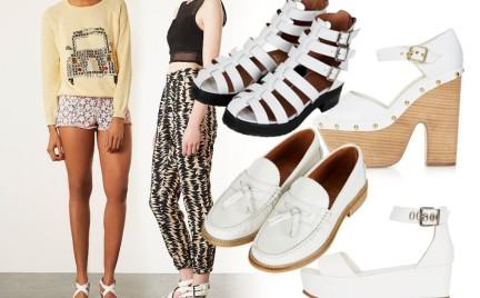 Białe buty z Top Shop. Podoba Wam się ta moda