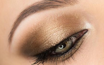 Makijaż: Oko przydymione złotem - Olivia Wilde