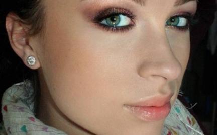 Makijaż 199 - złoto - fioletowe smoky