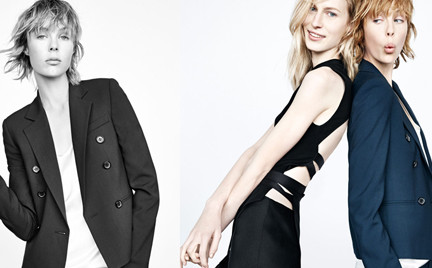 Edie Campbell w kampanii Zara jesień 2014