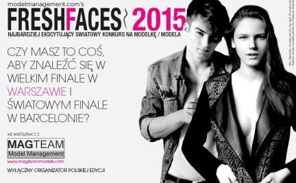 Konkurs Fresh Faces z polską edycją Zgłoś się i podbij światowe wybiegi
