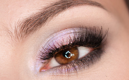 Makijaż: Wrzosowe smokey eye