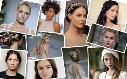 Ślubne makijaże i fryzury z Fall 2015 Bridal Week