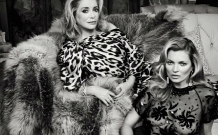 Kate Moss i Catherine Deneuve w sesji dla Vanity Fair