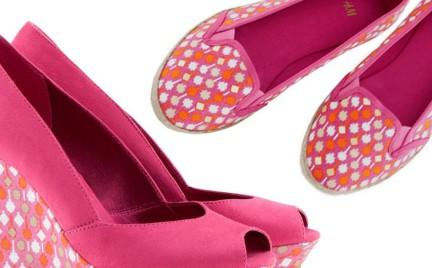 H M - buty w ciepłym kolorze wiśni