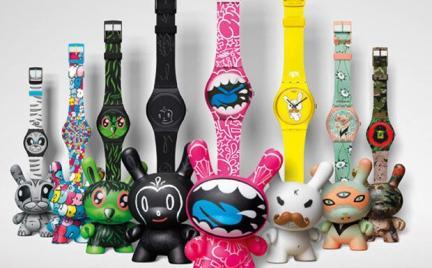 Zapoluj na Kidrobot w zegarkach Swatch