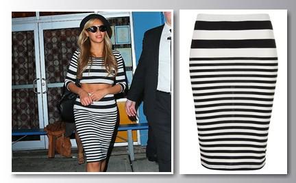 W stylu gwiazdy: Beyonce w spódnicy i topie Topshop