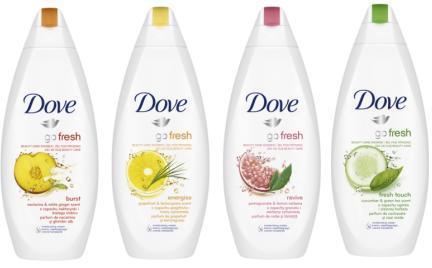 Żele pod prysznic Dove Go Fresh