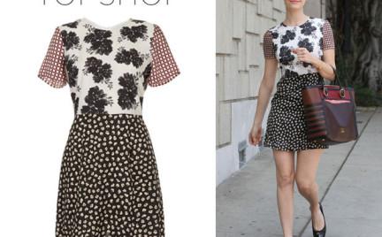 W stylu gwiazdy: Emmy Rossum i Emma Roberts w sukience Topshop