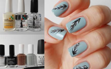 Manicure krok po kroku: Pióra