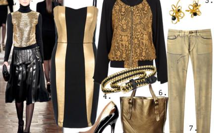 Moda z wybiegów: złoto