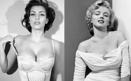 Kim Kardashian współczesną Monroe