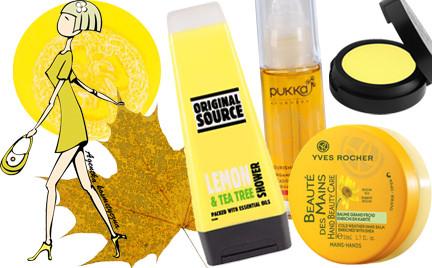 Kosmetyczna Agentka: na żółto (ponad 50 kosmetyków)